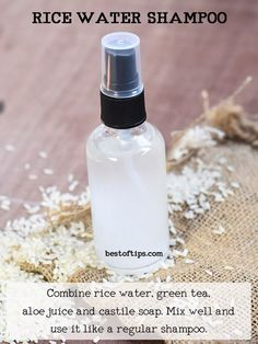 Rice water is slowly being recognized as one of the perfect alternatives to store-bought commercial shampoos. The milky white fluid left after boiling or ...