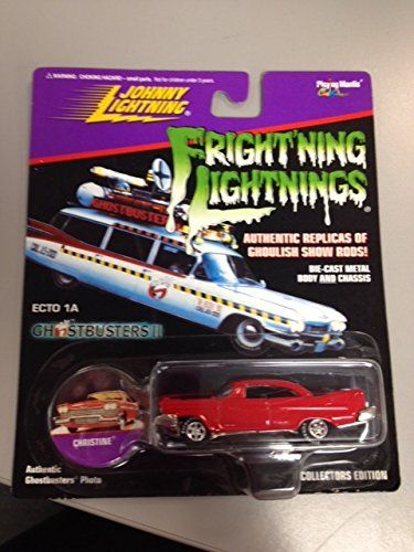 Johnny Lightning ECTO A1 Ghostbusters II Christine Frightning Lightnings collectors edition RARE Red @ niftywarehouse.com #NiftyWarehouse #Ghostbusters #Movie #Ghosts #Movies #Film