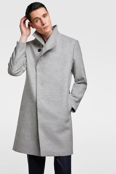 51ff2679 Image 2 of COAT WITH ASYMMETRIC COLLAR from Zara | mens fashion+ ...