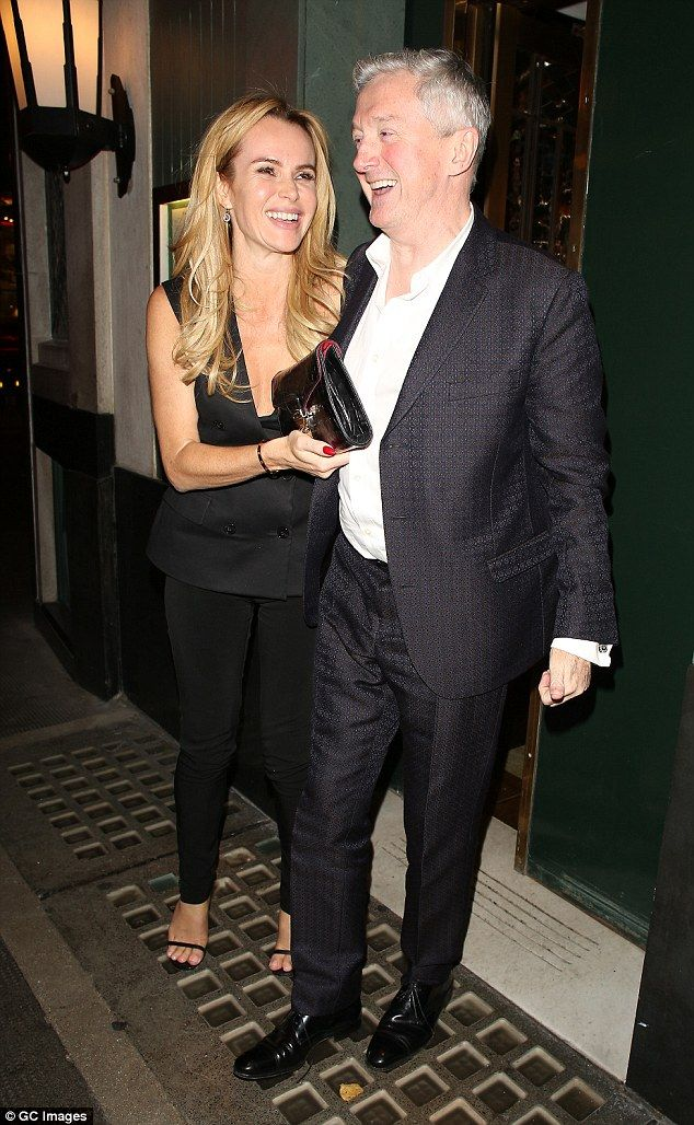Night on the town: Amanda Holden and Louis Walsh proved they could have just as good a nig...