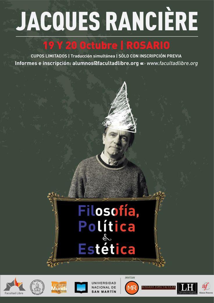 """Durante su visita a Rosario, el filósofo Jacques #Rancière brindó el seminario """"#Filosofía, #Política y #Estética""""   Click aquí para acceder al video--> http://goo.gl/rOszWS"""