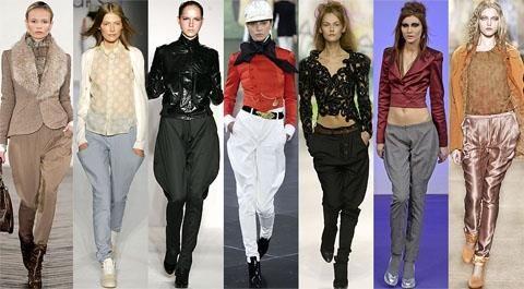 С чем и как носить джинсовые брюки галифе