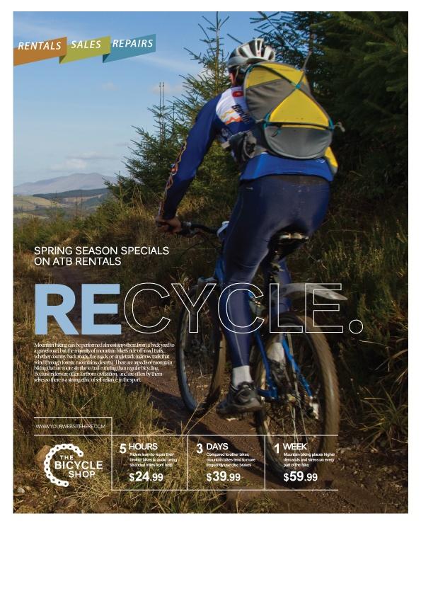 Recycle magazine recreated