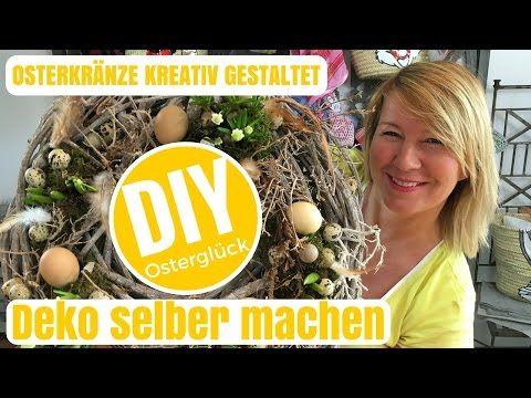 DIY-Deko Ideen selber machen - kreative Osterkränze- von Imke Riedebusch - YouTube