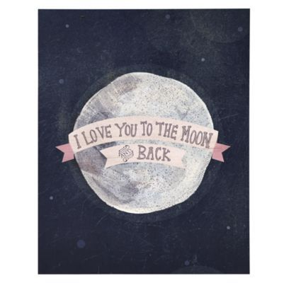 I Love You to the Moon and Back Poster Decal | LandOfNod