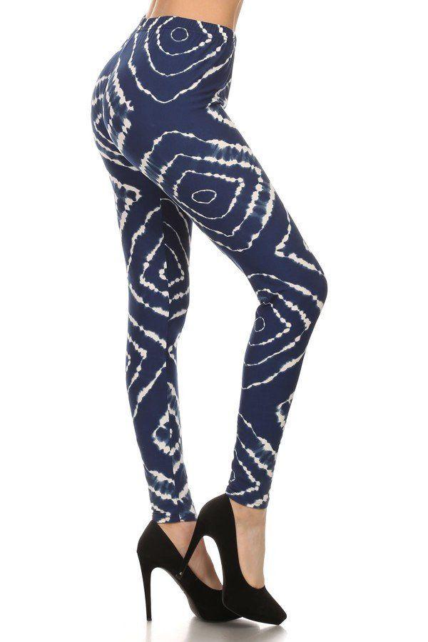 Horizon- navy blue, tie-dye legging