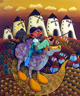 Don Quixote by Guido Vedovato - GINA Gallery of International Naive Art