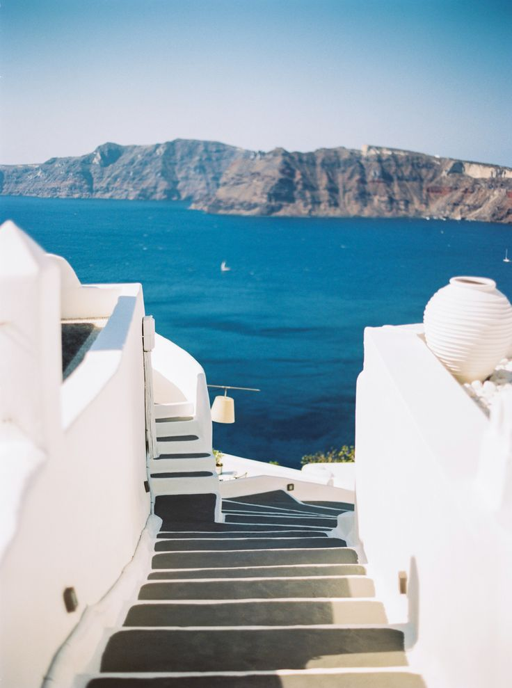 the best colours yet... Oia, Santorini. Stairway to heaven. #wanderings #santorini #bubblerock #portra