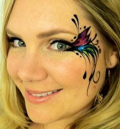 adult face painting google search more - Female Halloween Face Painting