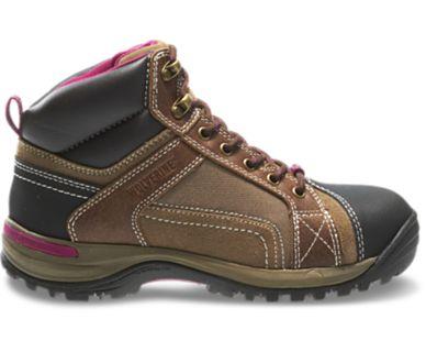 Women - Chisel Mid-Cut Steel-Toe Hiking Boot - Dark Brown | Wolverine