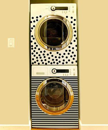 Another great find on #zulily! Polka Dot & Stripe Washer & Dryer Decal Set #zulilyfinds