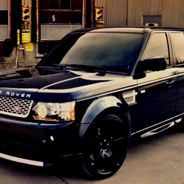 i want a black range rover with black rims  If I ever win the