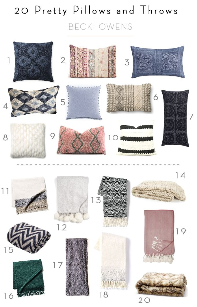 BECKI OWENS- Black Friday Sales are here! Visit the blog for 20 Pretty Pillows and Throws at a great deal. ❤️