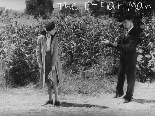 "Buster and Dorothea doing  ""It Happened One Night"" scene in The E-Flat Man 1935"