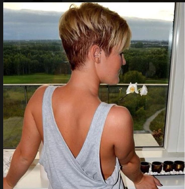 undercut blonde + tan