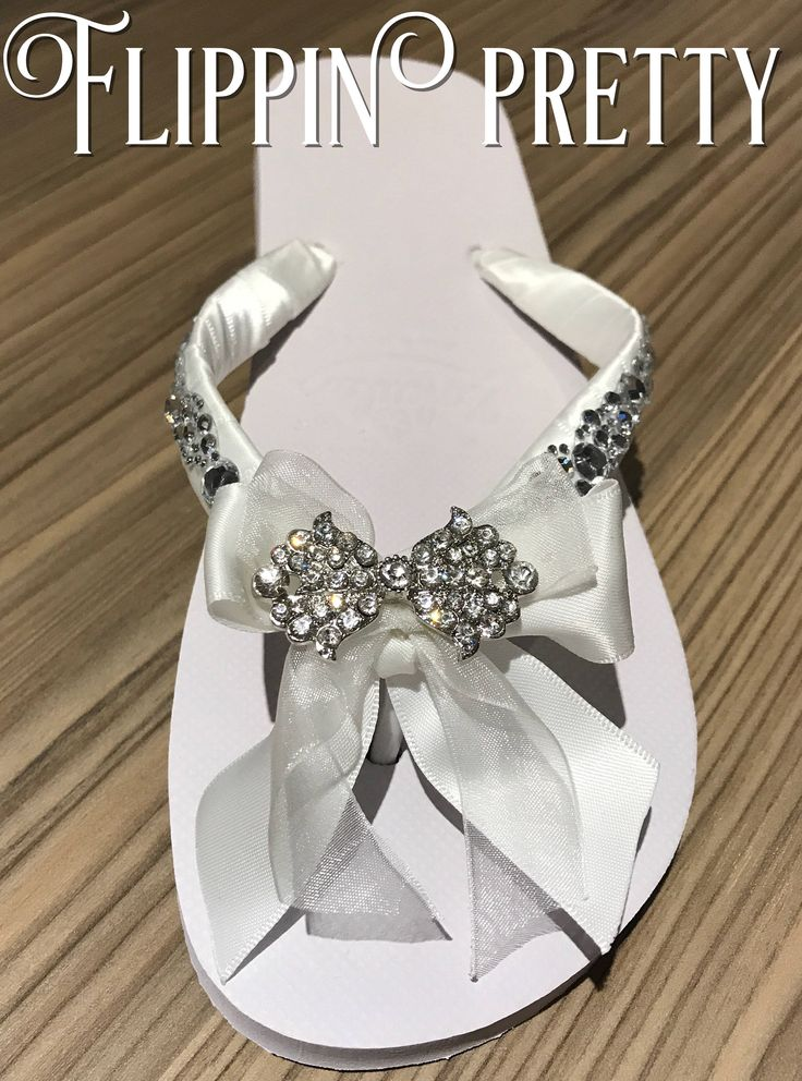 Excited to share the latest addition to my #etsy shop: Bow Flip Flop, Bridal Flip Flop, Wedding Flip Flops, Diamante Flip Flop, Flat Bridal shoes, pretty flip flop, bridal shoes,wedding slippers,