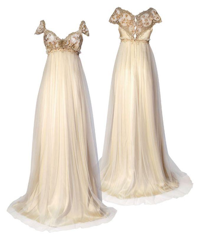 The 25 best regency wedding dress ideas on pinterest for Regency style wedding dress