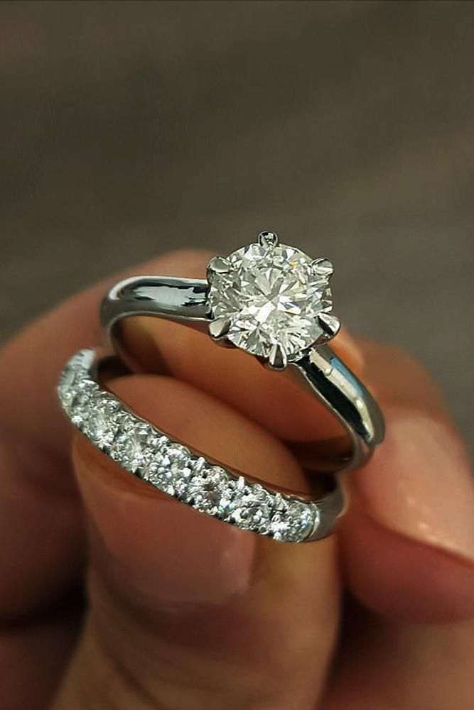 Certified 1.95CT Round Cut Moissanite 925 Silver Half Eternity Wedding Band Sets