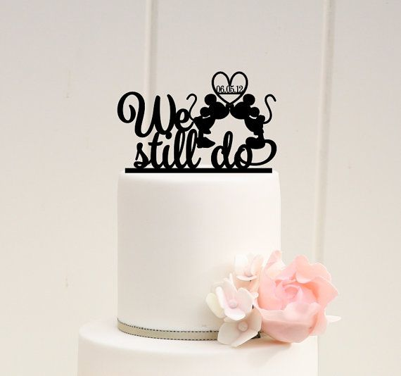 Hey, I found this really awesome Etsy listing at https://www.etsy.com/listing/225218268/mickey-minnie-anniversary-cake-topper-we