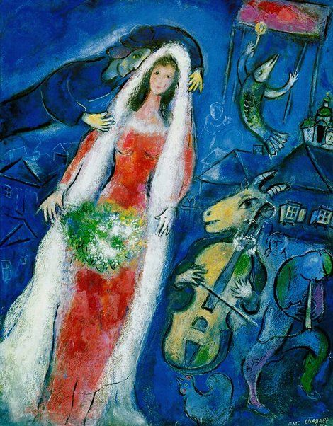 Marc Chagall, La Mariée (The Bride) on ArtStack #marc-chagall #art