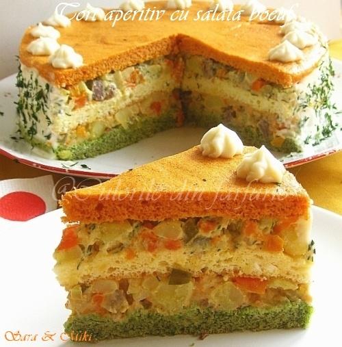 Culorile din farfurie: Tort aperitiv cu salata boeuf