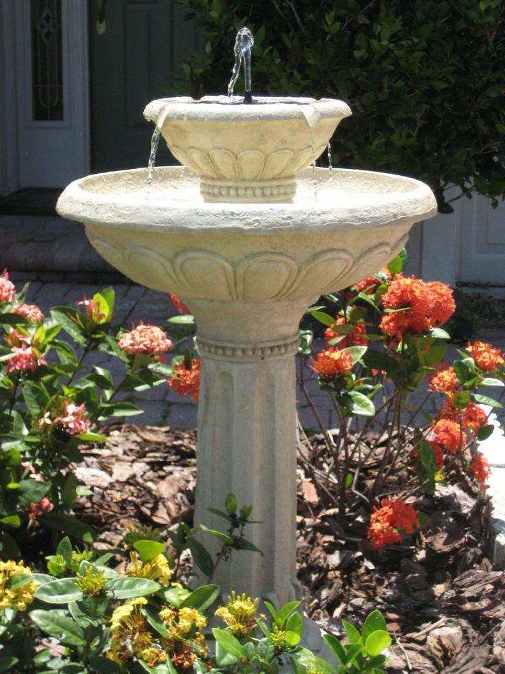 garden fountains outdoor water solar powered fountain canada pump universal insert kit