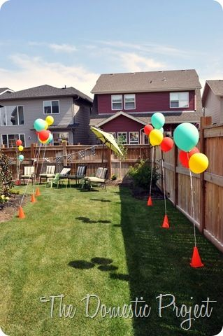 Backyard Birthday Party Ideas For Adults princess theme backyard birthday party las vegashenderson party stylists contact custom backyard birthday partiesadult Construction Cones To Hold Balloons Such A Cute Idea Disney Cars Birthdaycars Birthday Partiescar