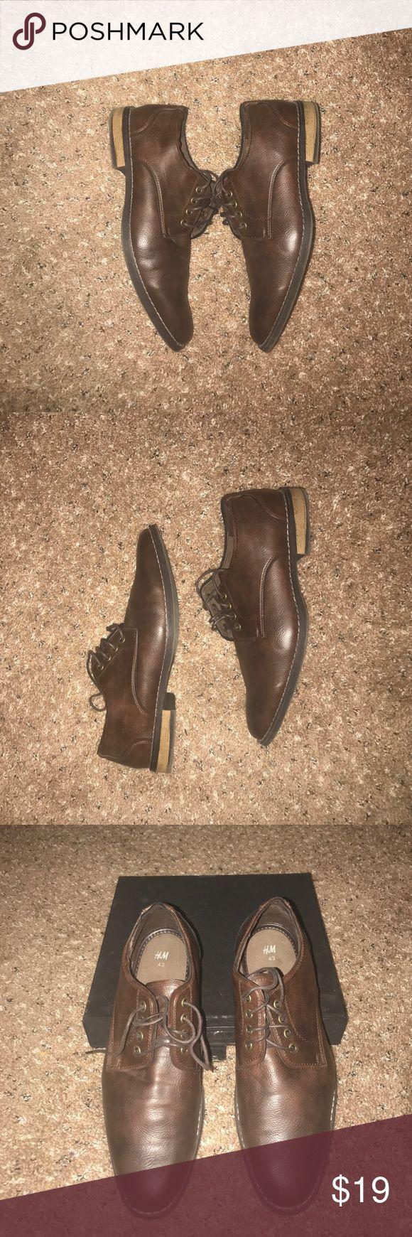 *Flash Sale* H&M Men's Shoes Brown Leather style H&M Men's Shoe with brown shoe laces. H&M Shoes Oxfords & Derbys