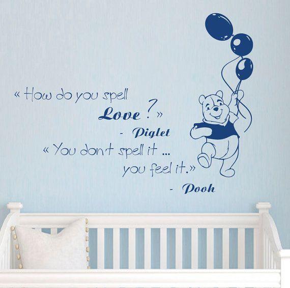 Winnie The Pooh Aufkleber Kinderzimmer Zitat Aufkleber Zitat Wandtattoo für Schlafzimmer Kinderzimmer Dekor FD162