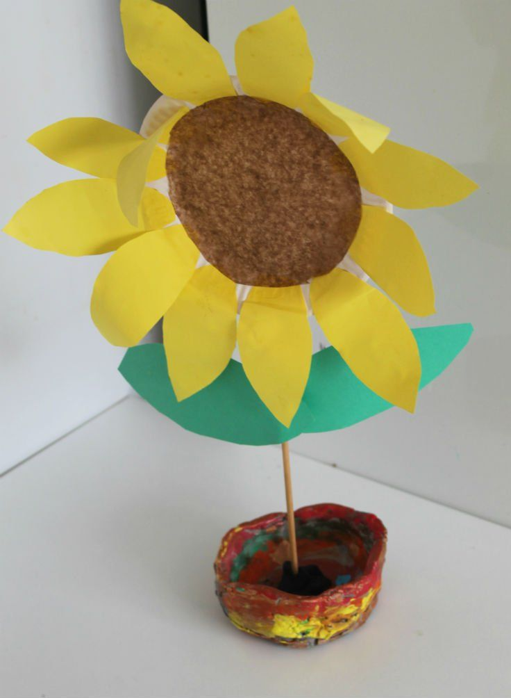 Paper Plate Sunflower - In The Playroom