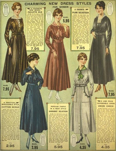 Charming New Dress Styles For Women Eaton S 1916 1917