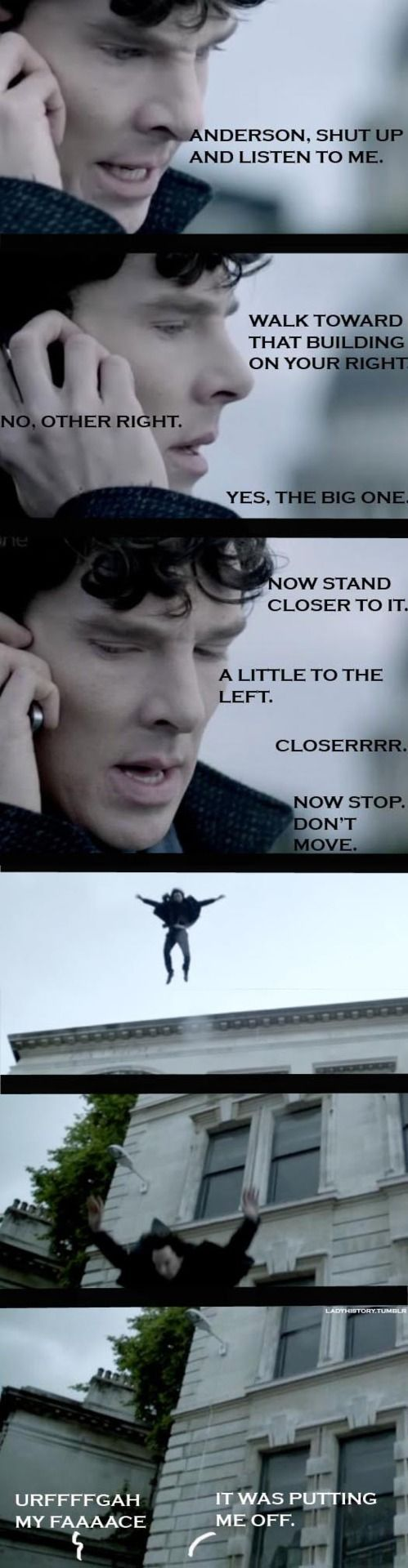 Sherlock. THAT'S how he survived! Anderson is finally useful for something! :D