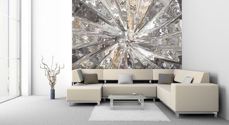 Brillant Tapeten Wohnzimmer Modern Grau