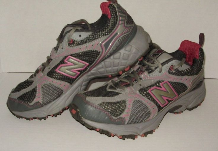 New Balance Womens Sneakers Shoes Size 8.5 Pink Gray Tie Up All Terrain A8 #NewBalance #allterrain