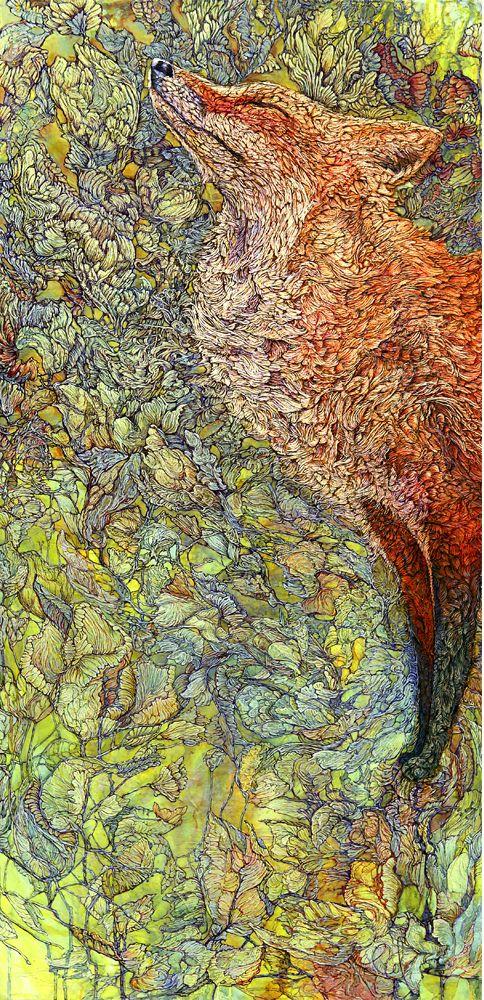Col-Mitchell-Scenting-Sunshine-fox-paper-art