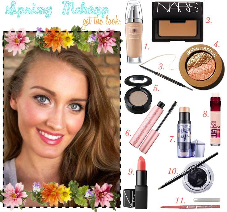 Warm Spring Color Palette Makeup