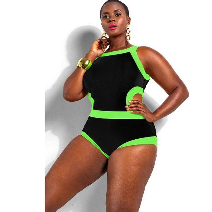 High Waist Retro Plus Size Bikini - (L - 4XL)