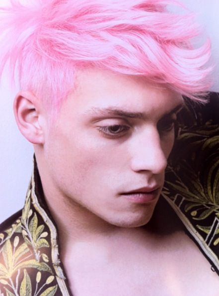 Male Model Pink Hair ™� Pink Hair Pinterest Pink