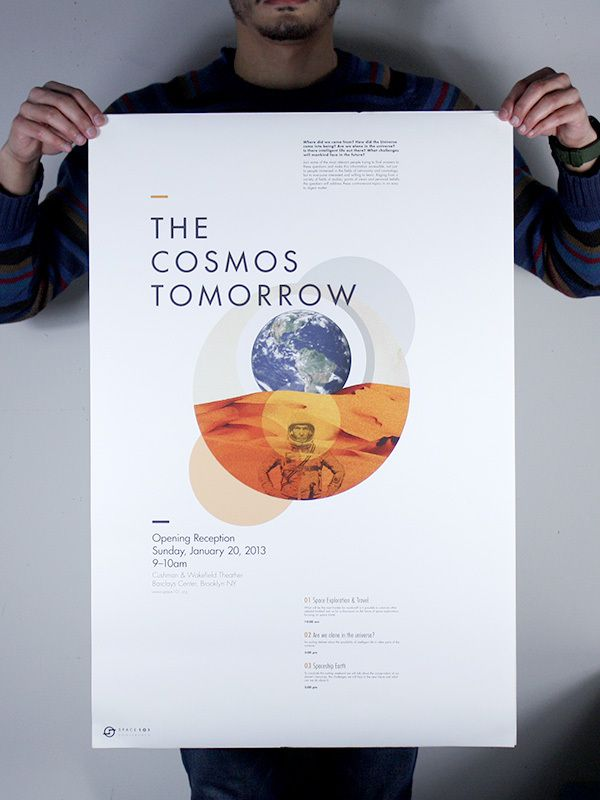 Space 101 Conference by Alejandro Torres Viera, via Behance