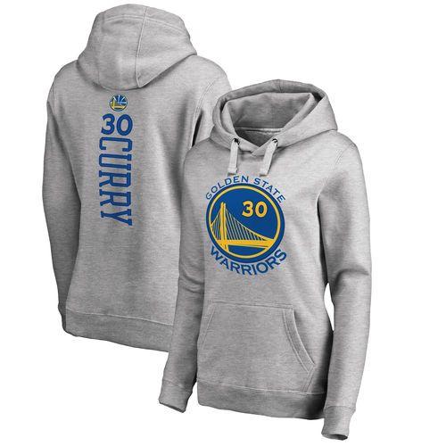 Stephen Curry Golden State Warriors Women's Backer Pullover Hoodie - Ash