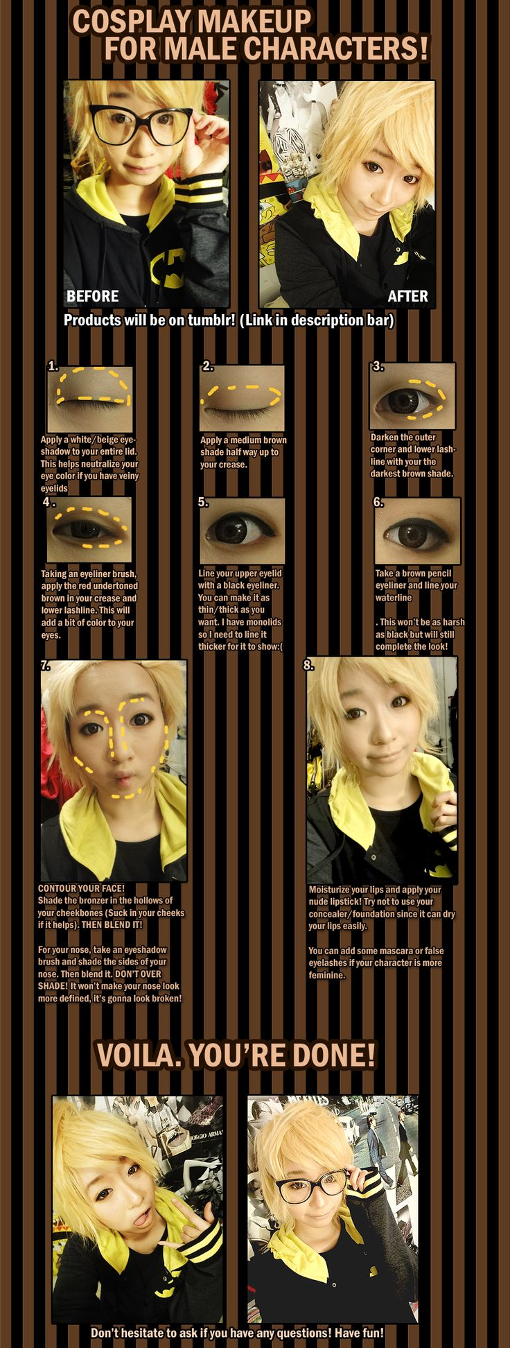 Cosplay Makeup for male characters by ~hinamomo on deviantART
