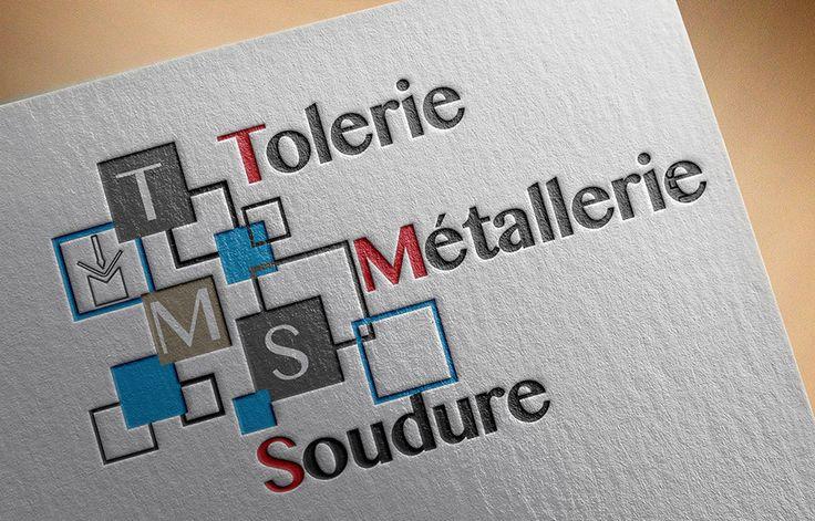 Création logo TMS Tolerie Métallerie Soudure 01390 Saint-André-de-Corcy. Agence de communication Saori Beaujolais Val de Saône