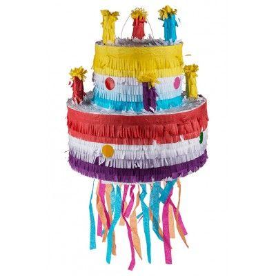Vous êtes à la recherche d'une activité pour occuper les enfants pendant un gouter d'anniversaire ? Cette pinata est l'activité parfaite !   Cette pinata en forme de gâteau d'anniversaire est  à remplir de bonbons, de jouets et autres petites surprises .   Utilisation : remplir la piñata par l'ouverture, vous pouvez y glissez de petits jouets (yoyos, toupies, petites voitures, ...), confettis et bien-sûr des bonbons et sucreries (emballés de préférence) !!   Suspendez ensuite la pinata au…