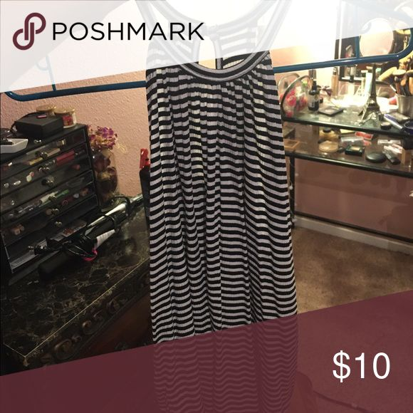 Stripe top Perfect condition. High neck. Black and white Tops Tank Tops