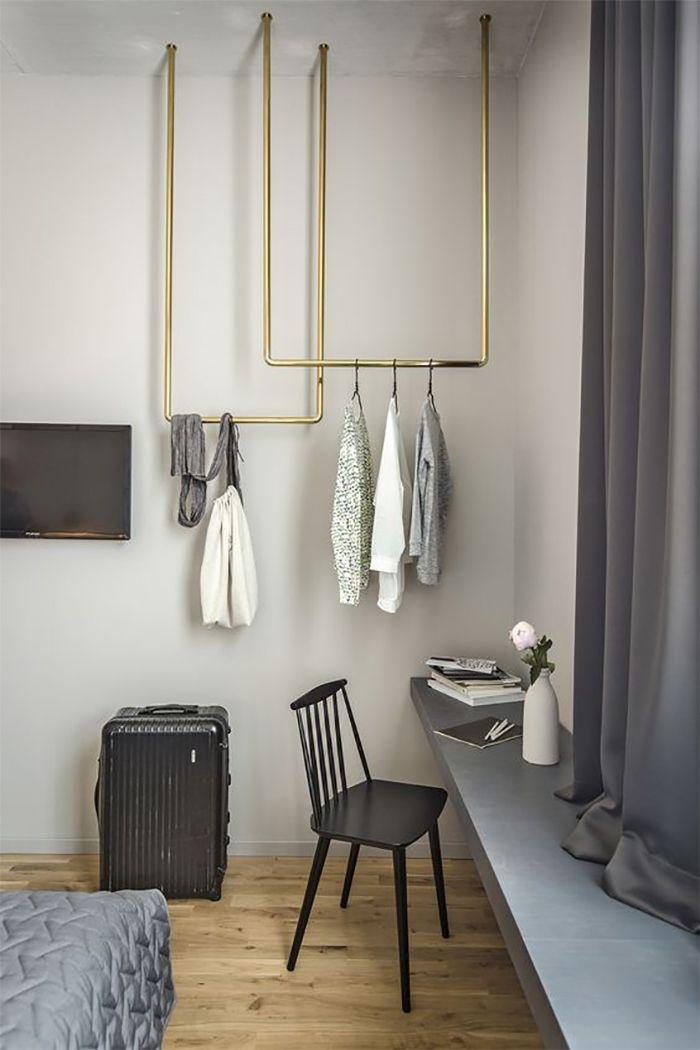 3 steg: så gör du en snygg klädstång som hänger fritt | ELLE Decoration ~ETS #minimalism