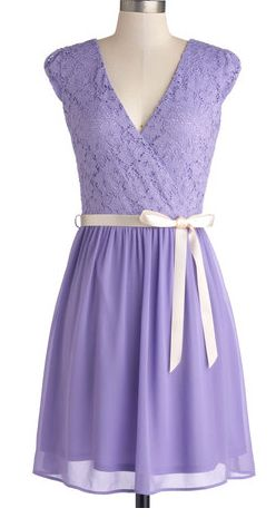 Beautiful lace and chiffon dress in #lavender http://rstyle.me/n/e6smcnyg6