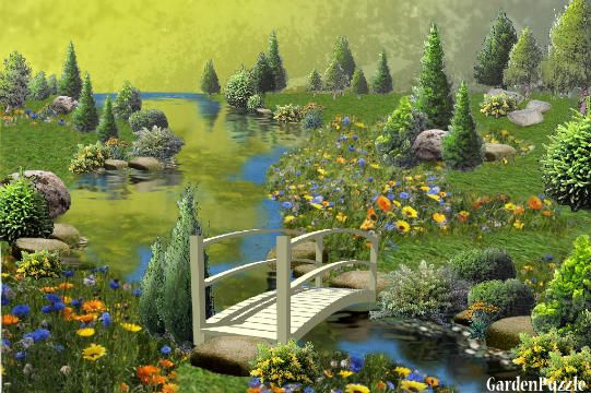 Wildflowers by the Bridge - GardenPuzzle - online garden planning tool