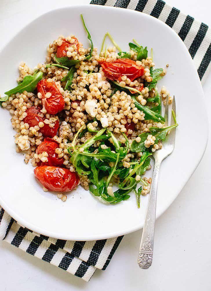 Roasted Cherry Tomato, Arugula, and Sorghum Salad