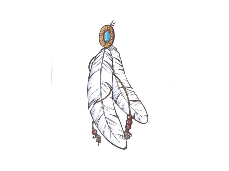 Indian Feathers | Designs Indian Feathers Connected With ...
