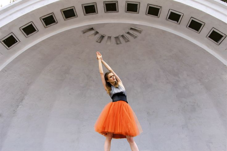 Tulle skirt  S031 orange van Fanfaronada op DaWanda.com